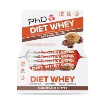 PhD DietWheyBar, Шоколад/Арахисовое масло (Упаковка 12 шт)