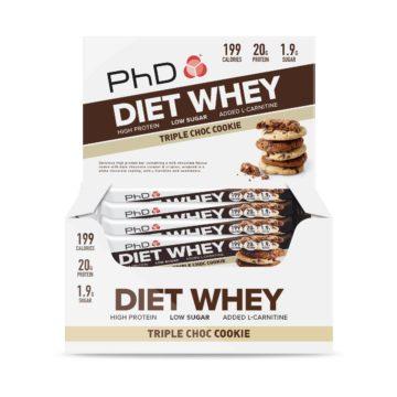 PhD DietWheyBar, Тройное шоколадное печенье (Упаковка 12 шт)